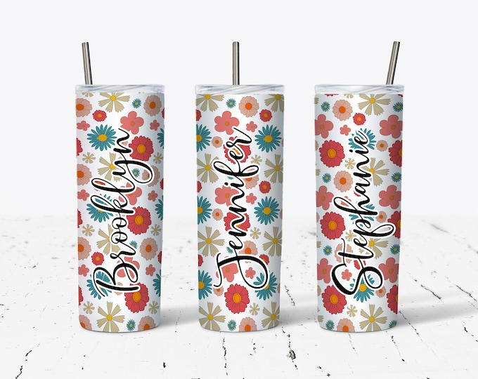 Personalized Bridesmaids Tumbler, Personalized Tumblers, Bridesmaid Gift, Bachelorette Party, Bridesmaid Glass design ds46