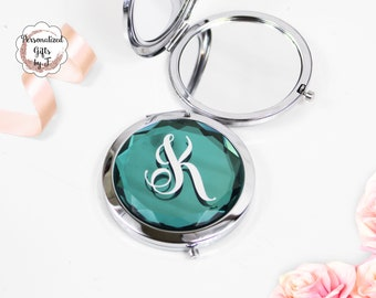 Teal compact Mirror