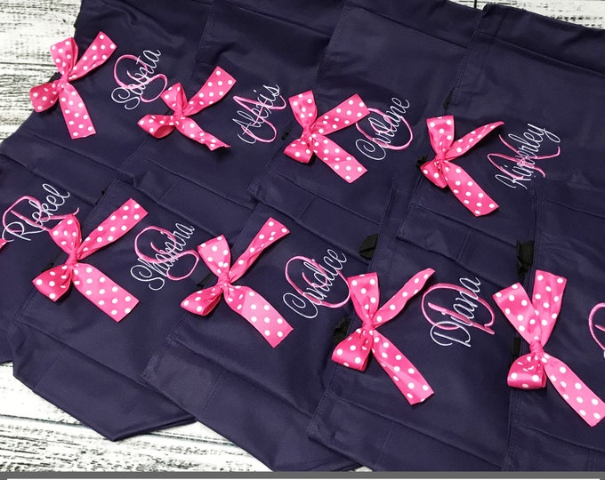15 Personalized Bridesmaid Gift Tote Bags- Embroidered Tote - Maid of Honor Gift - Name Tote- Mother of the Bride/ Groom (ESS1)