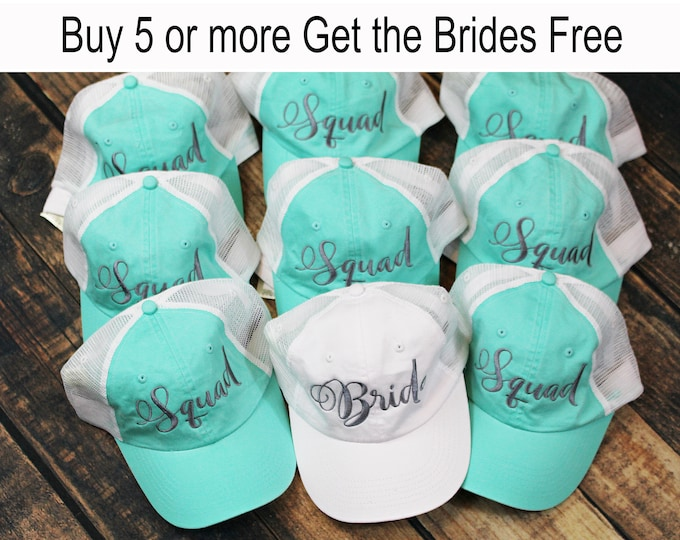 Bridesmaid Hat Gift Bachelorette Party Bride Squad Baseball Cap Dad Hat  Bridesmaid Gift Personalized Baseball Hat 2f883c699e8e