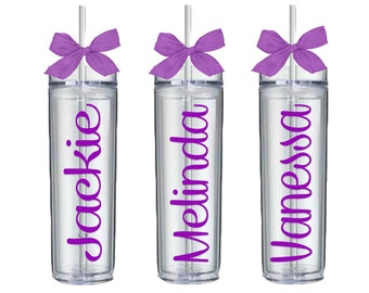 Bridesmaid Tumbler, Personalized Tumbler, Bridesmaids Gift, Bachelorette Party, Wedding Party, Team Bride, Bridal Party Gift