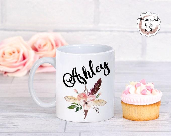 Personalized Mug with name, You choose 15 oz mug, 11 oz mug, 12 oz latte, 17 oz latte, Custom mug, teacher gift, bridesmaid gift
