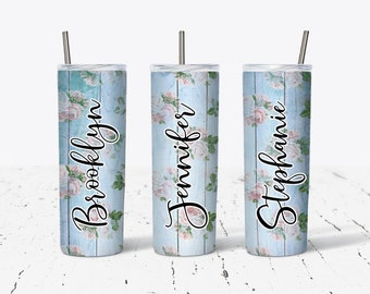 Personalized Bridesmaid Tumblers,Personalized Tumbler, Bridesmaid Gift, Bachelorette Party, Bridesmaid Glass DS22