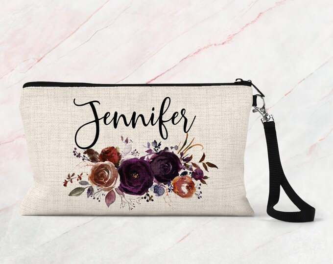 Personalized Cosmetic bag, Bridesmaid Makeup bag, Accessory Bag COS