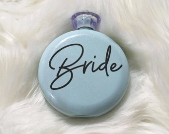 Glam Flask Bridesmaid Gift, Personalized Flask, Bachelorette Party Favor, Girls Night Out Flask, 21st Birthday Gift, Milestone Gift