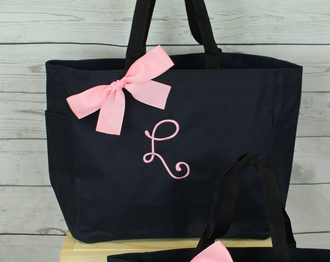 Personalized Teacher Gift Tote, Bridesmaid Gift Tote Bags Monogrammed Tote, Bridesmaids Totes, Personalized Tote, Wedding Tote Bag