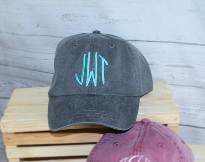 Monogrammed Baseball Cap Baseball Cap, Bridesmaid Gift, Groomsman Gift, Personalized, Monogrammed