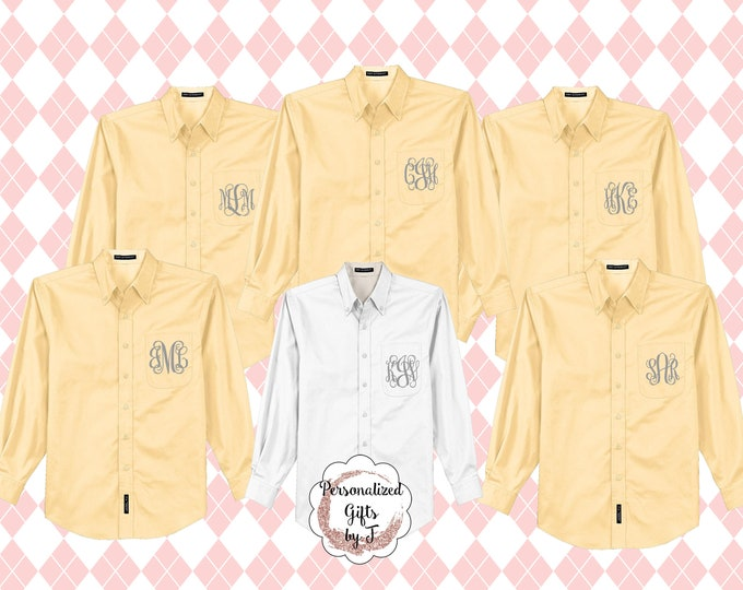 Monogrammed Getting Ready Shirt, Oversized Bridal Party Shirt, Set of 10, Personalized Oversized Shirt, Bridesmaids Gift, Bachelorette Party