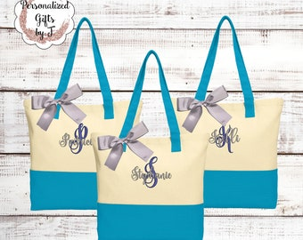 Personalized Canvas Tote Bag, Bridesmaid Gift, Monogrammed, Bridal Party Gifts