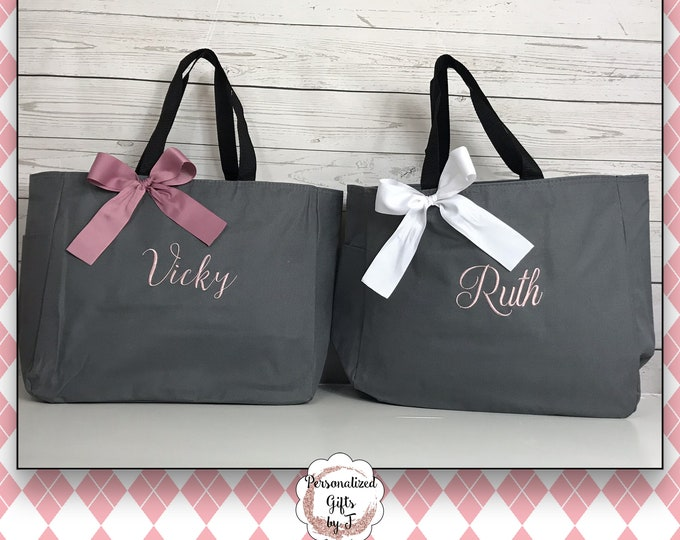 2 Personalized Tote Bag, Monogrammed Gift, Personalizable Tote, Monogrammed Totes, Gift For Her, Cheer Team Dance Bag, Mom Gift, Teacher Bag