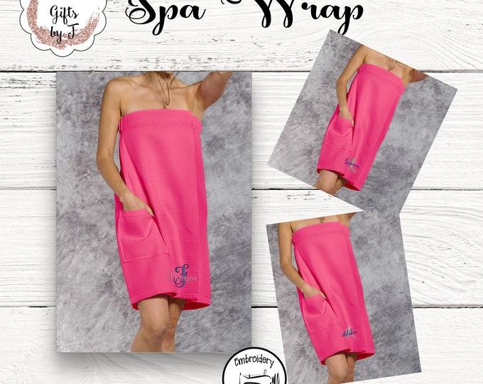 Hot Pink Waffle Towel Wrap