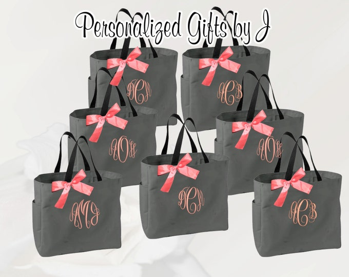 Personalized Cheer Dance Beach Bridesmaid Gift Tote Bag Monogrammed Tote, Bridesmaid Tote, Personalized Tote (ESS1)