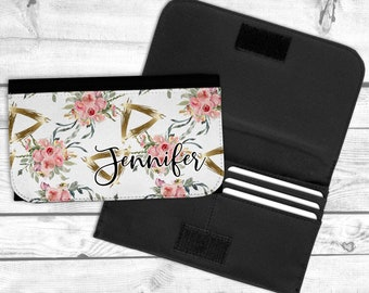 Blush and Gold Personalized Wallet, Bridesmaid Gift, Mothers Day Gift, Gift Idea