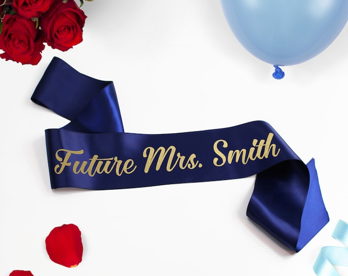 Bachelorette Party Sash Bride To Be Best Mate Satin Sash Girls Night Out Custom Sash Future Mrs Party Favor