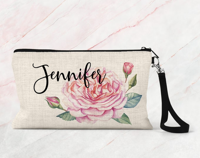 Personalized Cosmetic bag, Bridesmaid Makeup bag, Accessory Bag COS34