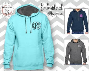 Monogrammed Pullover Sweatshirt, Personalized Hoodie, Monogrammed gift for Her, Gift for Wife, Girlfriend Gift, Sister Gift Hoody