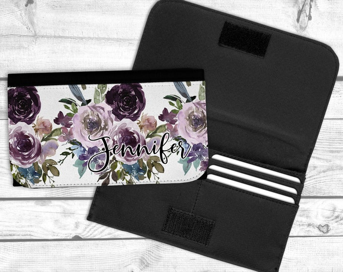 Purple and Plum Personalized Wallet, Mothers day gift, teen gift, graduation gift