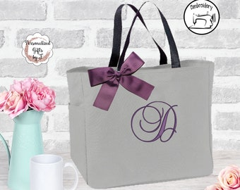 Personalized Bridesmaid Tote Bags, Personalized Tote, Bridesmaids Gift, Monogrammed Tote, Bridesmaids Gift, Bridal Party Gift (BSESS1)