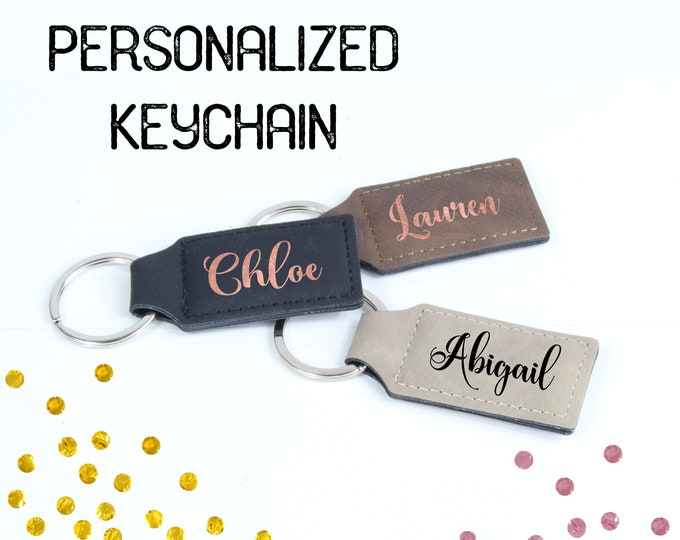 Personalized Keychain Bridesmaid Gift, monogram keychain