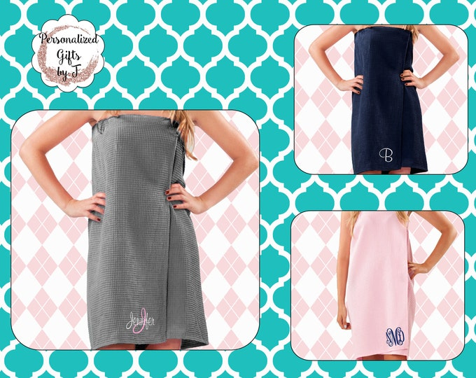 Towel Wrap, Personalized Spa Wrap Bridesmaid Robe Wrap College Bath Wrap Personalized Spa Wrap Sauna Spa Wrap Monogrammed Towel Wrap