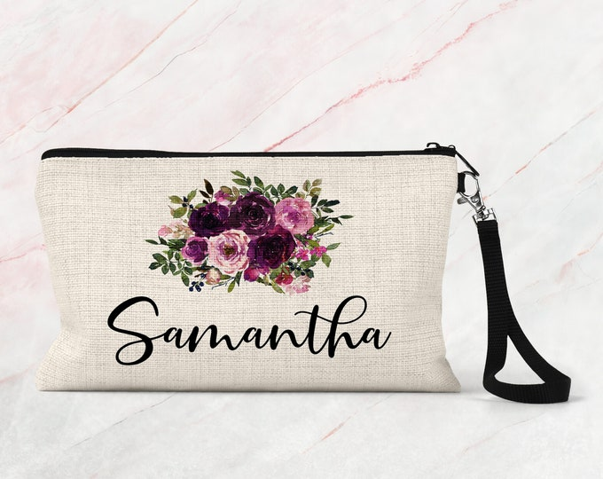 Makeup bag, Makeup Bag Personalized, Bridesmaid Makeup bag Gift COS18