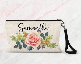 Makeup bag, Bridesmaid gift, Cosmetic bag, personalized makeup bag COS13