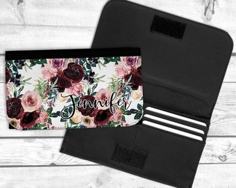 Burgundy and Blush Personalized Wallet, Mothers day gift, teen gift, graduation gift