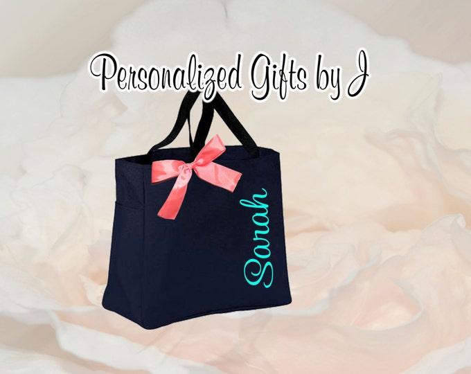Monogrammed Tote Bag, Personalized Tote Bag