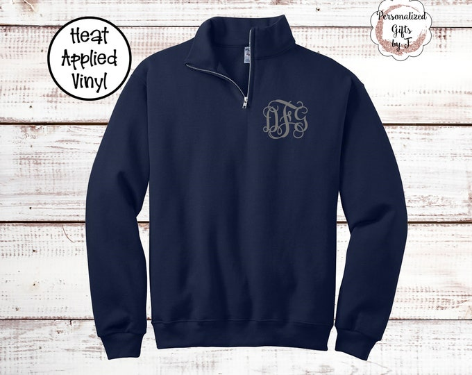 1/4 Zip Monogrammed Pullover, Bridesmaid Shirt Gift, Little Big Sorority Shirt, Monogram, Personalized Sweater, trending now Sweatshirt