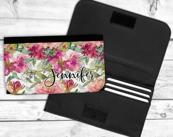 Floral Personalized Wallet, Bridesmaid Gift, Sister Gift, Mothers Day Gift