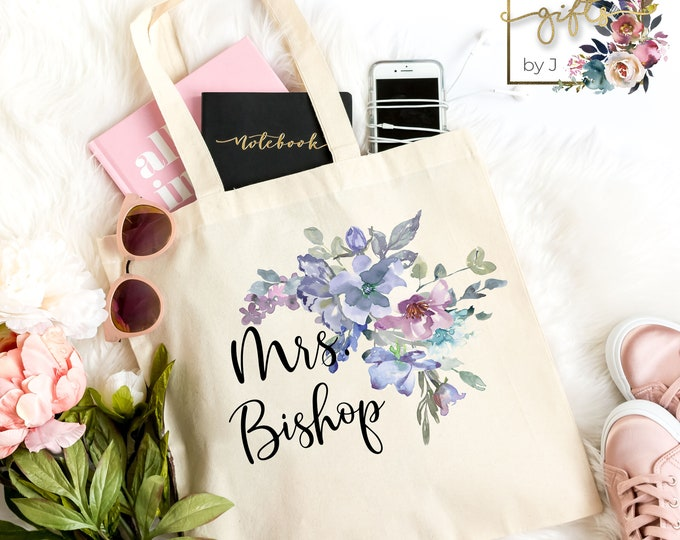 Personalized Bridesmaid Bag, Teacher Bag, Coworker Gift, Mom Gift, Wedding Party Gift , Canvas Tote Bag