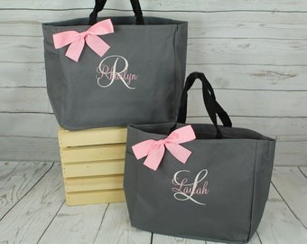 Personalized Tote, Bridesmaids Gift, Wedding Tote, Monogrammed Tote Bag,  Bridesmaid Tote, Personalized Tote, Personalised Bag (ESS1) da8f519309