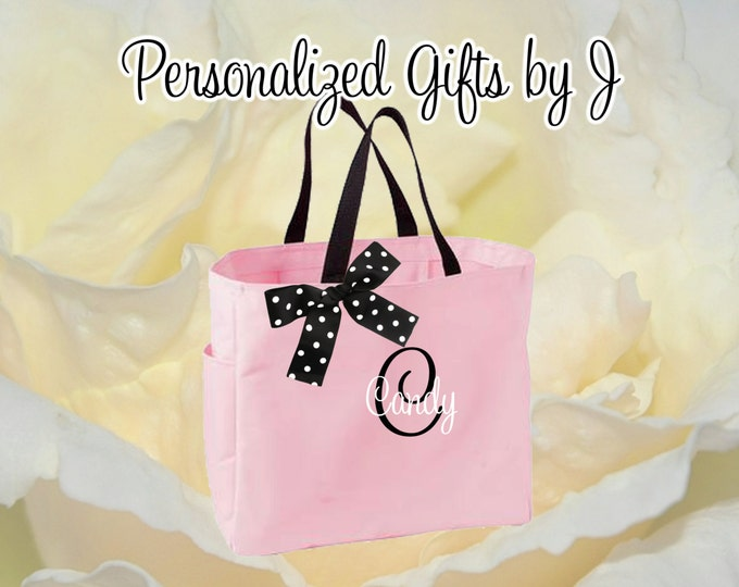 15 Personalized Bridesmaid Gift Tote Bags- Embroidered Tote - Maid of Honor Gift - Name Tote- Mother of the Bride/ Groom