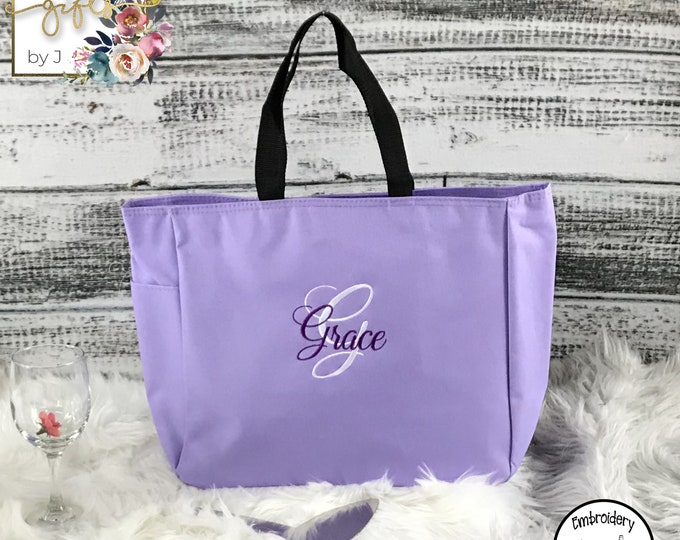Set of 3, Custom Tote Bags, Monogrammed Bridesmaid Gift, Personalized Tote Bag, Mother of the Bride Gift Tote, Maid Of Honor Gift (ESS1)