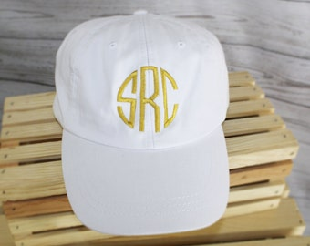 Monogrammed Baseball Cap, Bridesmaid Gift, Groomsman Gift, Personalized, Monogrammed Hat
