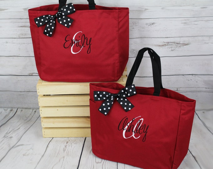 Personalized Bridesmaids Tote Bags Monogrammed Tote, Bridesmaids Tote, Personalized Tote, Name Tote, Personalized Bags, Set of 11, Set of 12