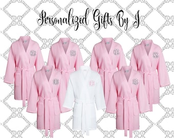 Bridesmaid Gift Robe, Getting Ready Robe, Personalized Bridesmaids Robe, Monogrammed Robes, Waffle Robes, Personalized Bridesmaid Gifts,
