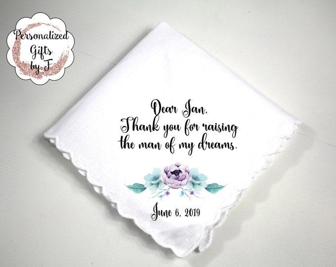 Mother of the Groom Gift, Custom Handkerchief, Wedding Hanky, Your custom Text Hanky, Mother of the Bride Hanky, Grandmother Gift bq1