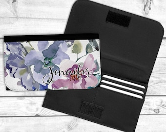 Personalized Bridesmaid gift, Personalized wallet, Floral Wallet