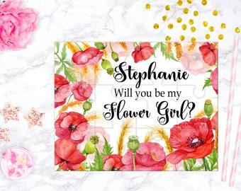 Will You Be My Flower Girl Puzzle Flower Girl Proposal Flower Girl Gift  Cute Gift Keepsake Memento Personalized Flower Girl Gift design 339