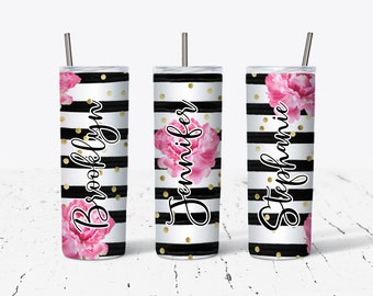 Sublimation Skinny Tumbler, Personalized Gift, Bridesmaids Gifts DS70