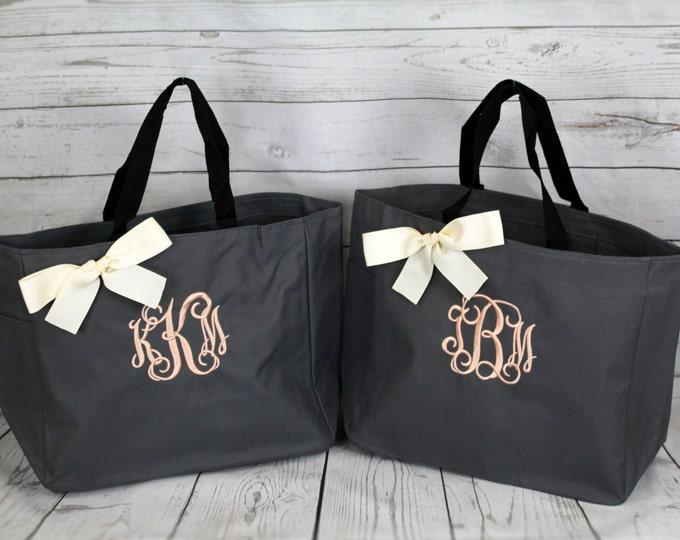 Set Of 10, wedding Tote, Bridesmaid Gift Personalized Tote Bags Monogrammed , Personalized Tote, Wedding Totes, Day of Wedding Bag, Wedding