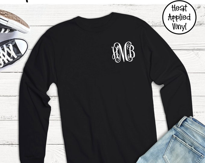 Monogrammed Long Sleeve T Shirt