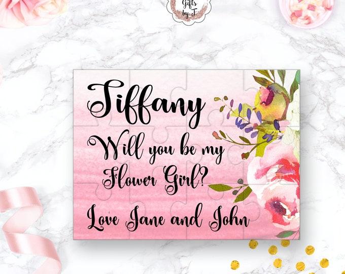Will You Be My Flower Girl Puzzle Flower Girl Proposal Flower Girl Gift  Cute Gift Keepsake Memento Personalized Flower Girl Gift design 110