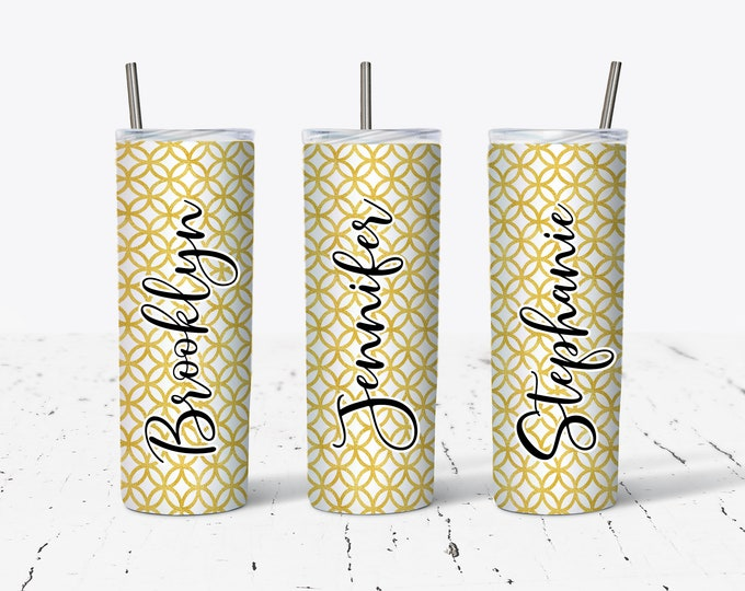 Personalized Tumblers, Monogrammed Tumbler, Bridesmaids Gift DS29