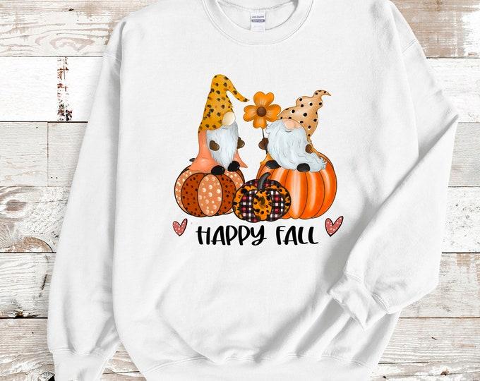 Happy Fall Gnome Sweatshirt, Fall Gnome Tshirt, gnome tee shirt
