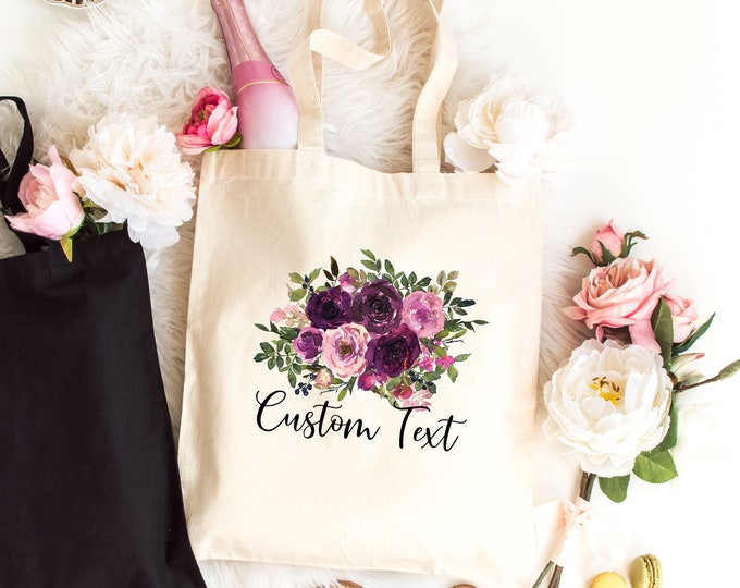 Bridesmaid Gift Bag, Maid of Honor Gift, Matron of Honor Bag, Mother of the Bride Tote, Mother of the Groom, Bride Bag,  Light Canvas Tote
