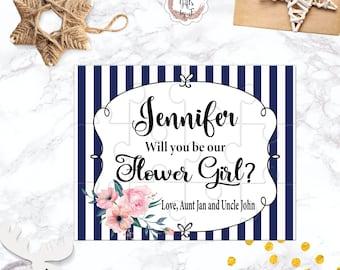 Will You Be My Flower Girl Puzzle Flower Girl Proposal Flower Girl Gift  Cute Gift Keepsake Memento Personalized Flower Girl Gift design 122