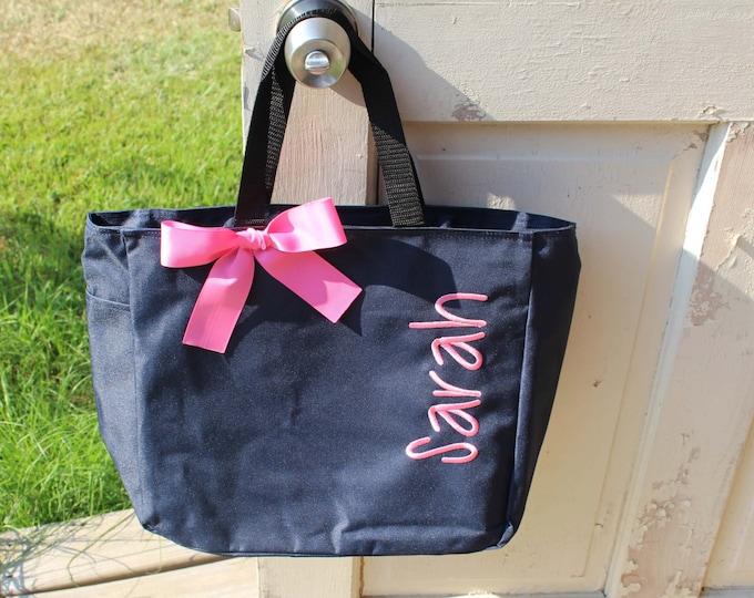 Wedding Tote, Personalized Bridesmaid Gift, Tote Bag, Monogrammed Tote, Bridesmaids Tote, Personalised Bag, Bridal Party Gifts, Wedding Bag