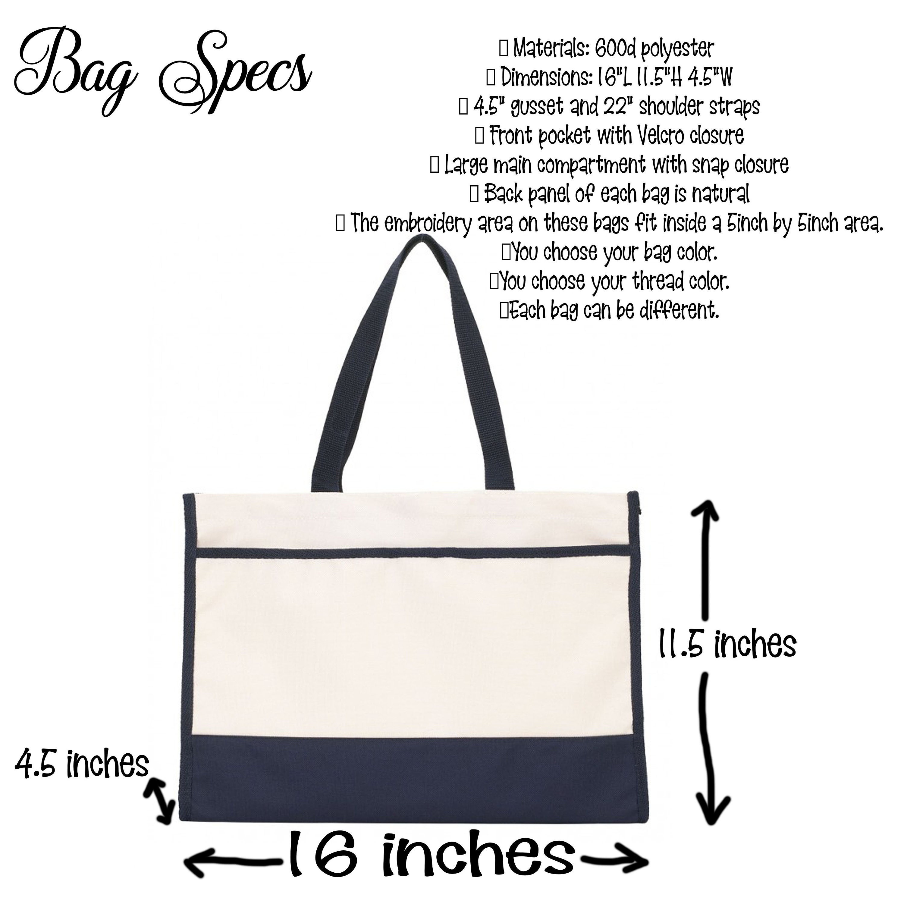 Personalized canvas tote 5c04453724298